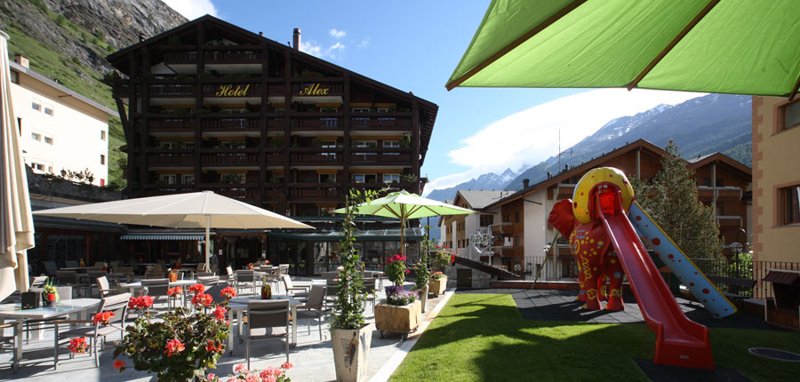 Hotel Alex, Zermatt, Switzerland - hotel exterior and terrace.jpg